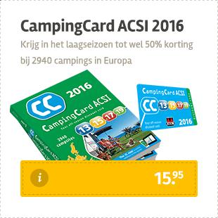 Koop hier de CampingCard ACSI 2016
