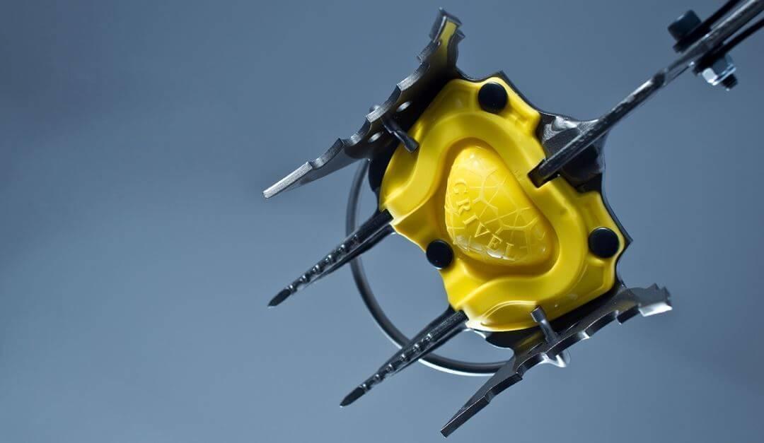 Anitbot platen zorgen dat er minder sneeuw blijft plakken en je dus beter grip hebt op de ondergrond
