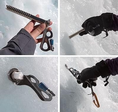 Zorg dat je een ijsschroef goed kunt indraaien voor het beste resultaat