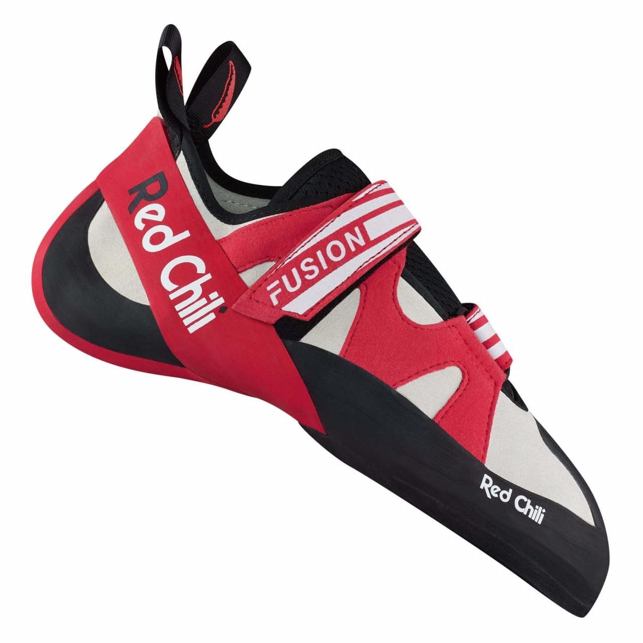 De Red Chili Fusion VCR is een technische schoen voor zowel sportklimmen als boulderen