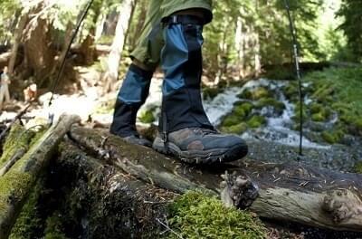 Gaiters houden je broek en schoenen droog en schoon