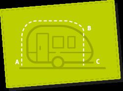 Omloopmaat caravan