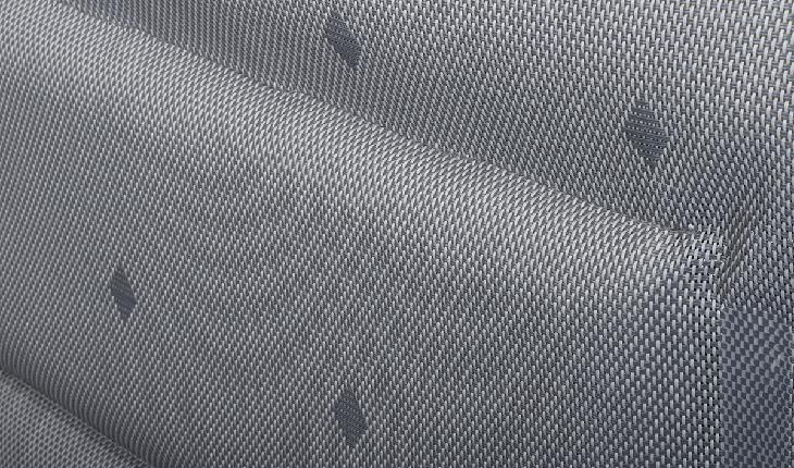 Campingstoel van gepolsterd textileen