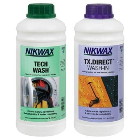 Nikwax Twin Pack Tech Wash - TX-Direct 1 ltr