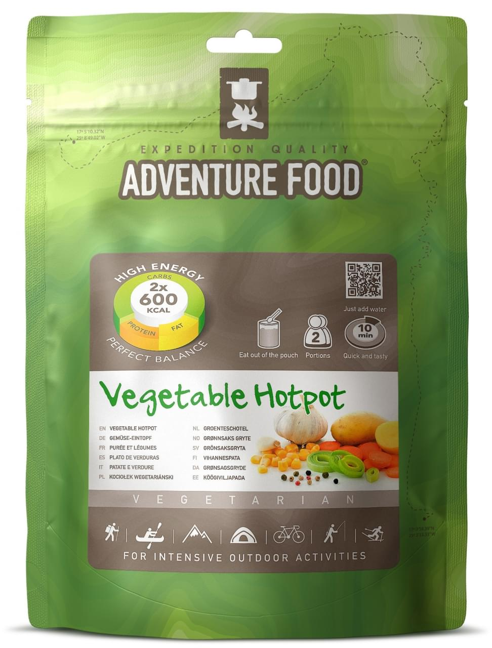 Adventure Food Vegetarisch  Twee porties Groentenschotel