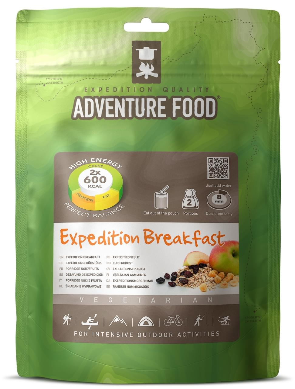 Adventure Food Twee porties Expeditieontbijt