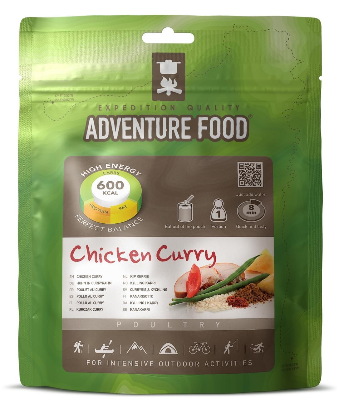 Adventure Food Een portie Kip-kerrie rijst