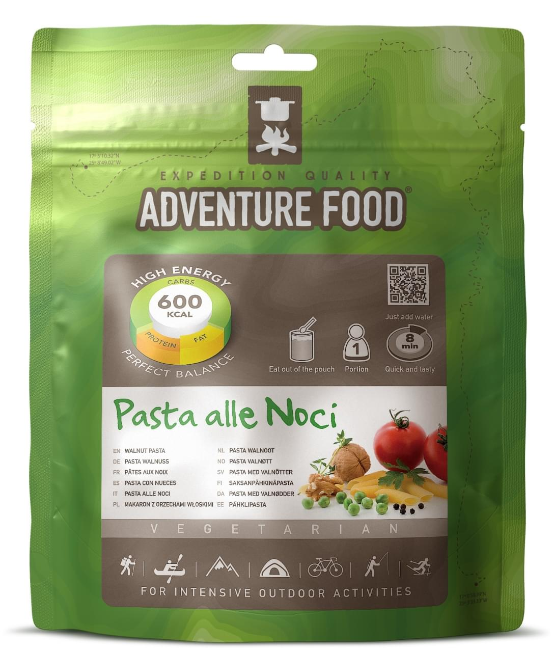 Adventure Food Vegetarisch  Een portie Pasta Walnoot