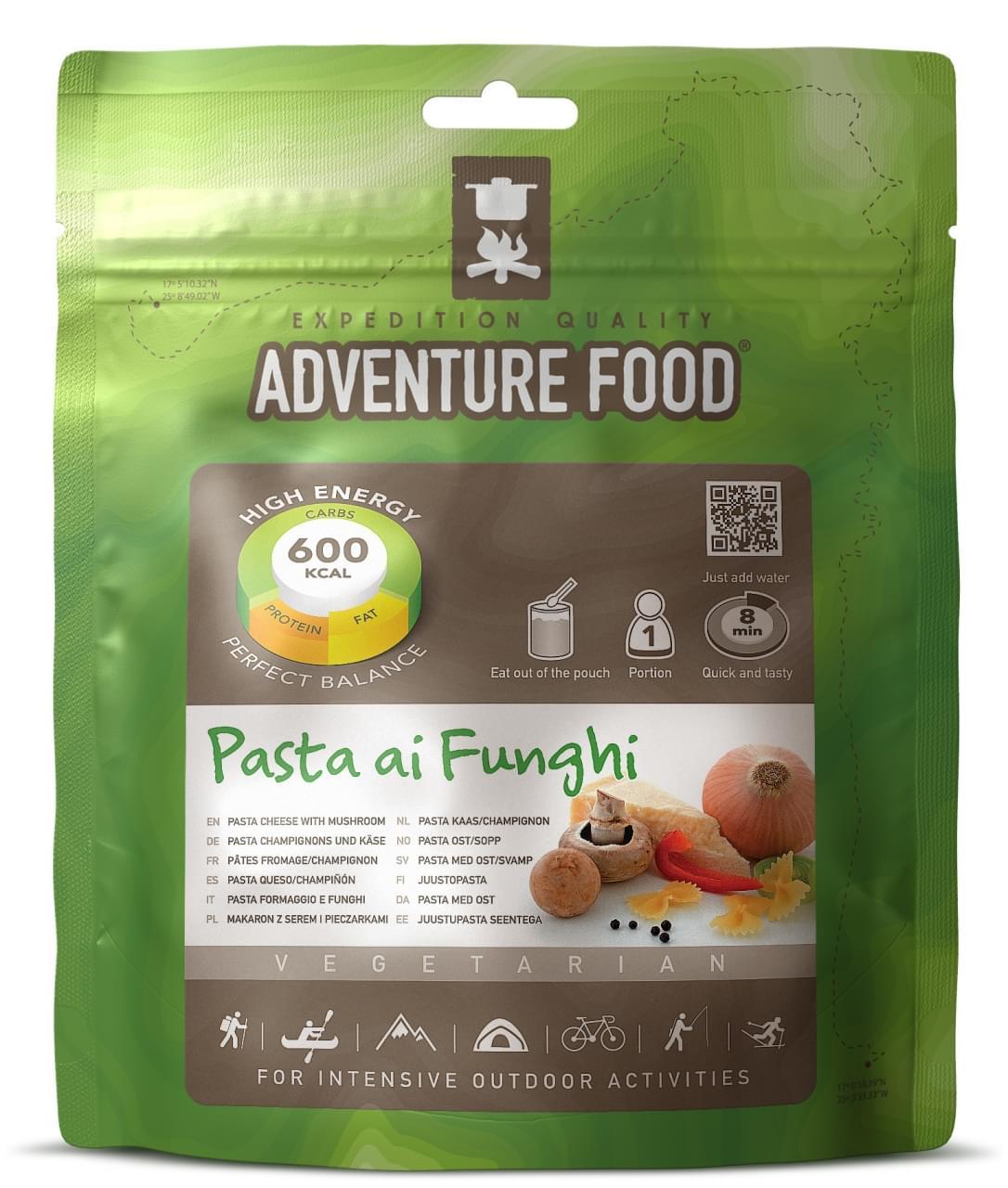 Adventure Food Vegetarisch Een portie Pasta Kaas Champions