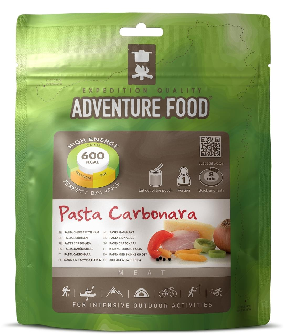 Adventure Food Een portie Pasta Ham Kaas