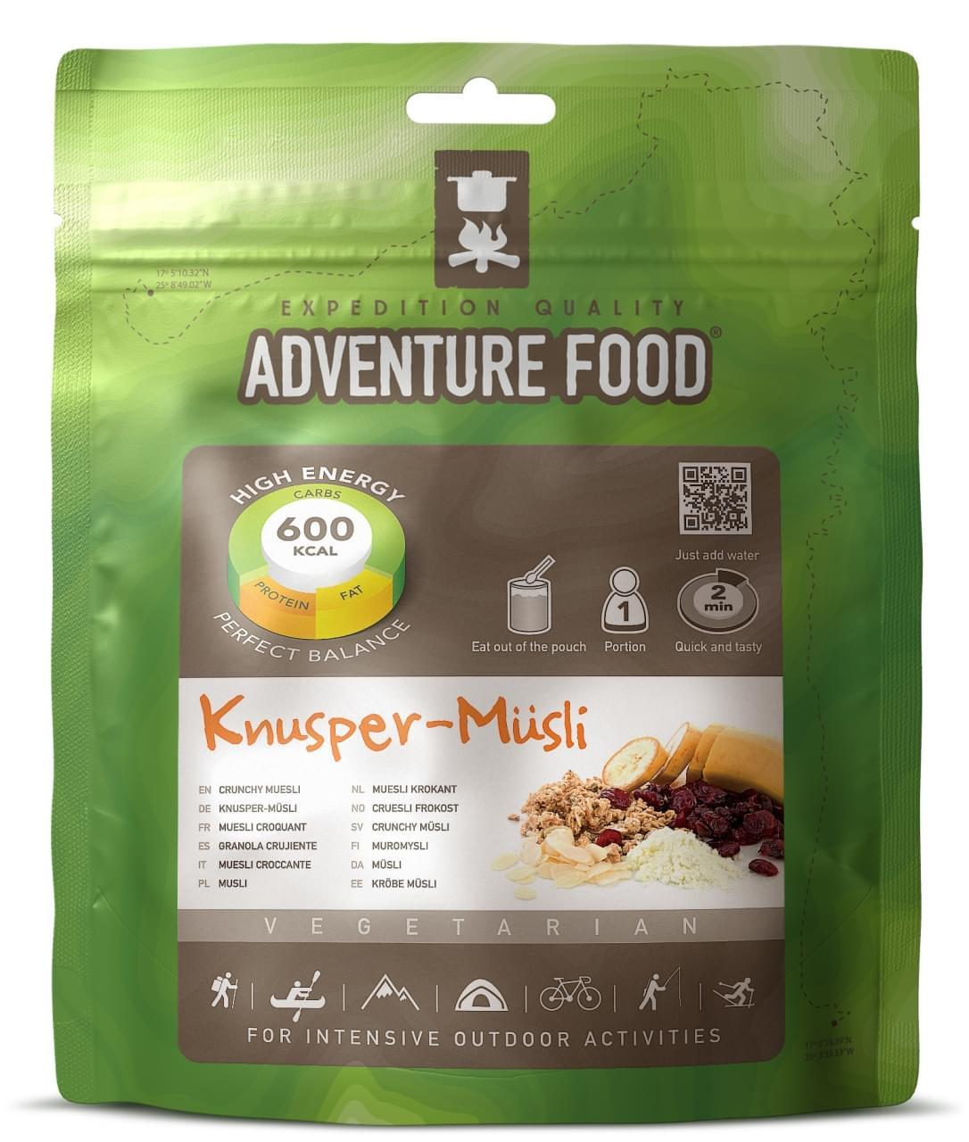 Adventure Food Ontbijt  Een portie Muesli krokant
