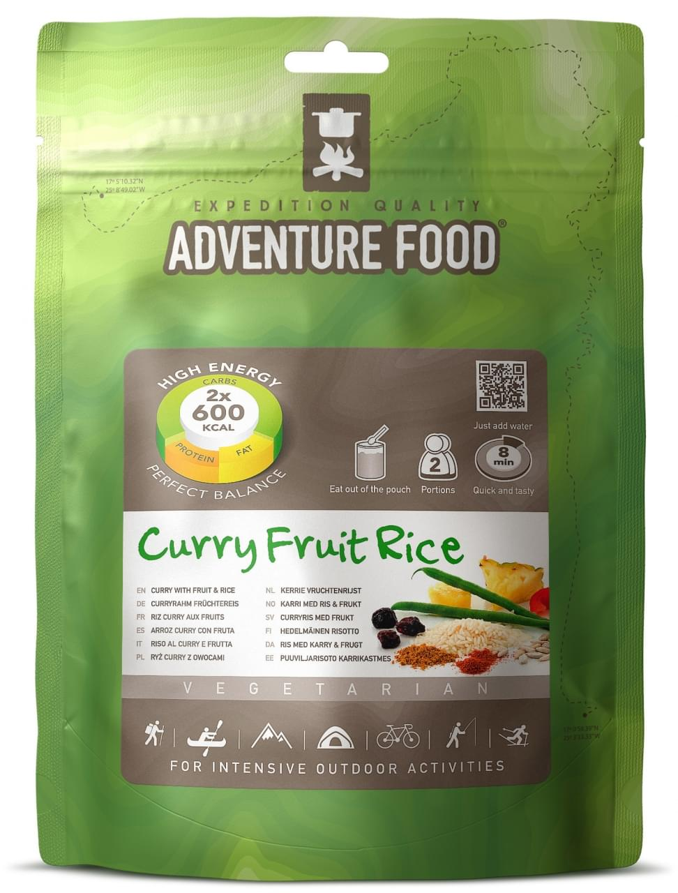 Adventure Food Vegetarisch Twee porties Kerrie-vruchten