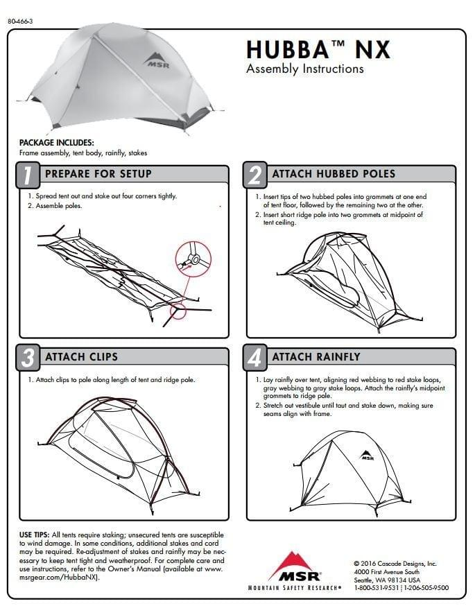 MSR Hubba NX (1 pers.) tent