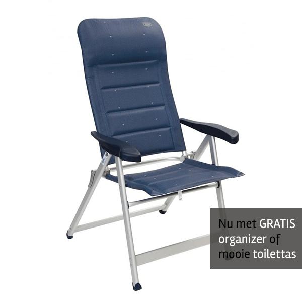 Crespo AL-237 Deluxe stoel Blauw GRATIS ACTIE