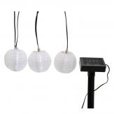 Lumineo LED solar rond wit lantaarn