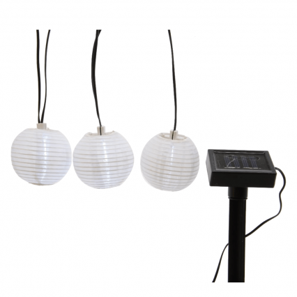 ML LED solar rond wit lantaarn