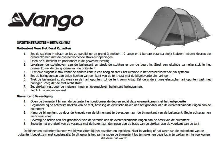 Vango Beta 450XL River (4pers.)
