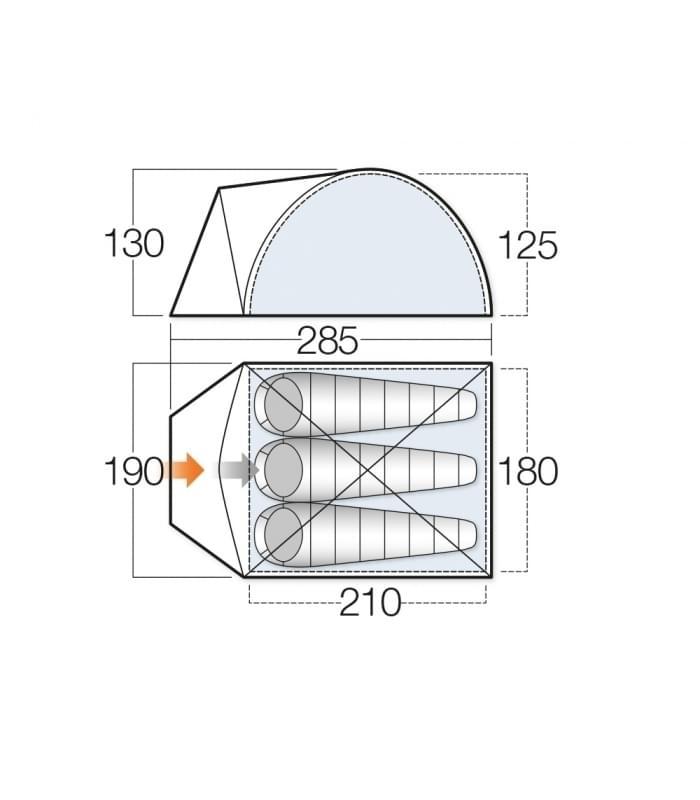 Vango Alpha 300 / 3 Persoons Tent