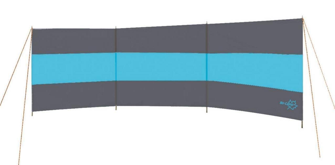 Bo-Camp Windscherm 3-vaks grijs-blauw