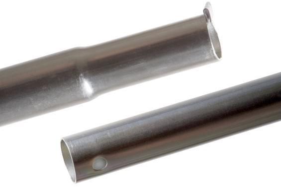 Tussendeel 19mm 70/65cm+veer+gat :zilv