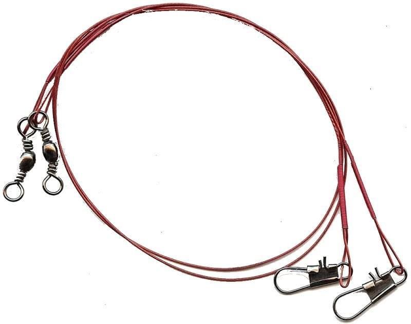 LFT 2pack Steel Wire 30cm 1×7 (red) Onderlijnen > Hengelsport Onderlijnen staal > Kleinmateriaal