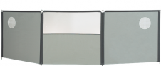 Isabella Flex Grey 3-delig Windscherm - Grijs