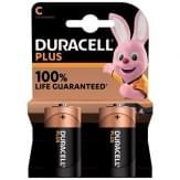 Duracell Plus Alkaline C Batterijen