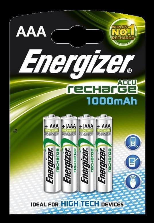 Energizer Oplaadbare batterijen AAA 4 stks
