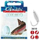 Gamakatsu Bkd-3610n Trout Spiral 60 haak 6 nylon 0.22mm