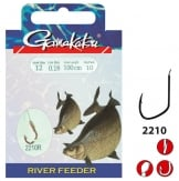 Gamakatsu Hook Bkd-2210r Bream 100 Cm Haak 12 Nylon 0.14mm