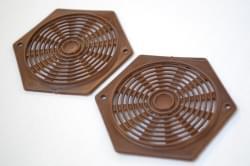 OCS Rozet opbouw bruin 70 mm zeskant