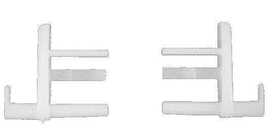 OCS Eindstuk rolgordijn type 2000 wit