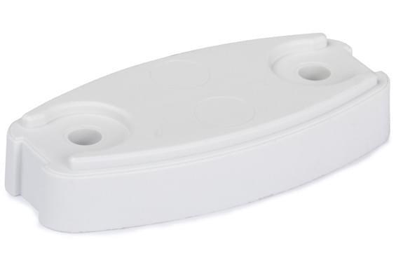 Plopp Onderlegplaat wit Plopp v.deurvanger