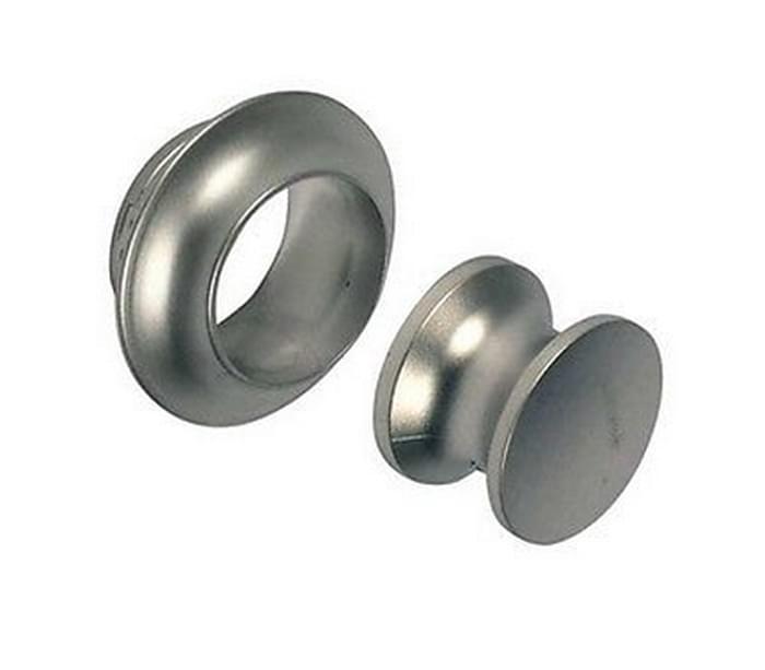 OCS Knop drukknopslot mat zilver