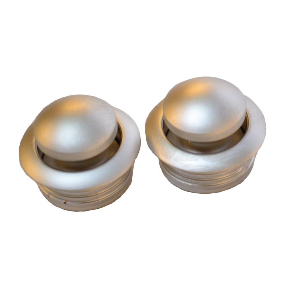 OCS Knop drukknopslot mat zilver mini