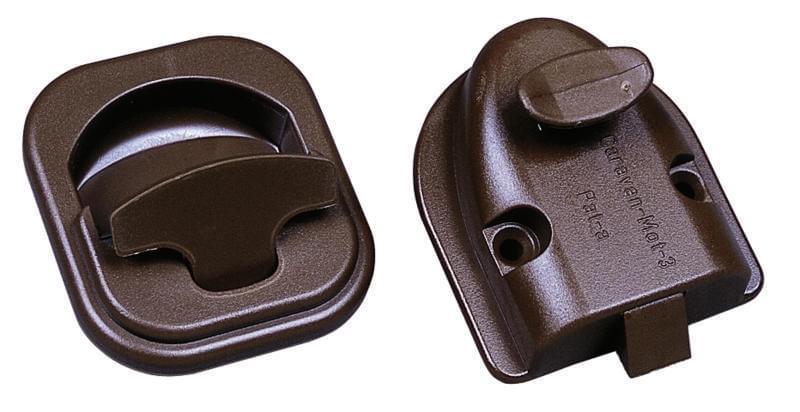 OCS Toiletdeurslot bruin inbouw rond afsl.