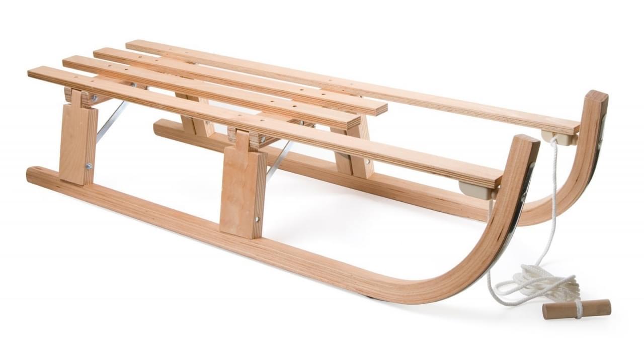 DWS Slede hout opvouwbaar 110 cm