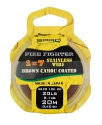 Spro 1x7 BROWN COATED WIRE 20m 20LB