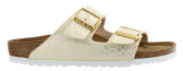 Birkenstock Arizona Shiny Snake Cream Dames slippers