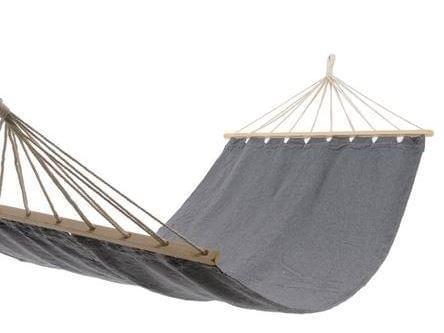 Decoris hangmat katoen/hout - Grijs