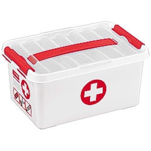 Sunware Q-line First Aid Box 6 ltr met vakverdeling