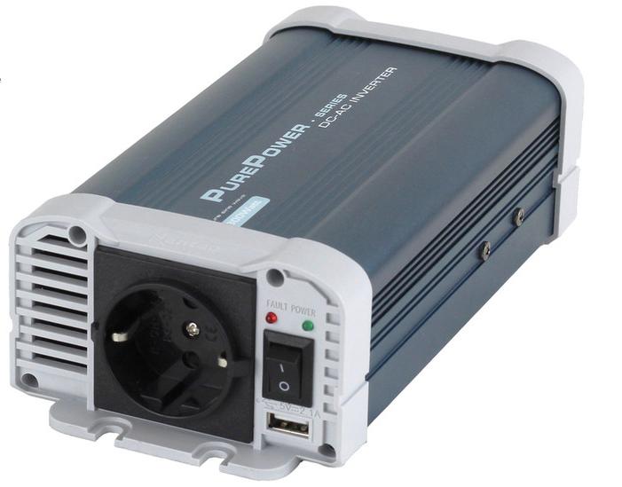 Es Inverter 12Vdc-230Vac 600 Watt Zuivere Sinus Omvormer