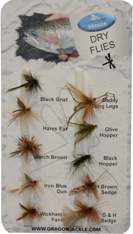 Dragon Std Fly Selection - Dry Flies (10)
