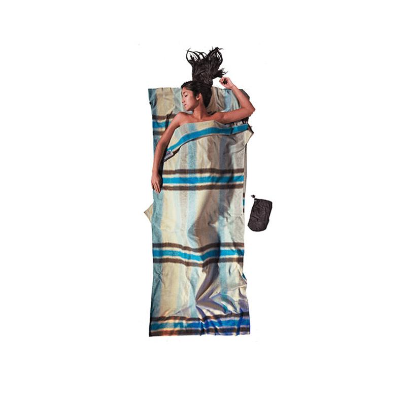 Cocoon Travelsheet Double katoen/flanel lakenzak - Multi