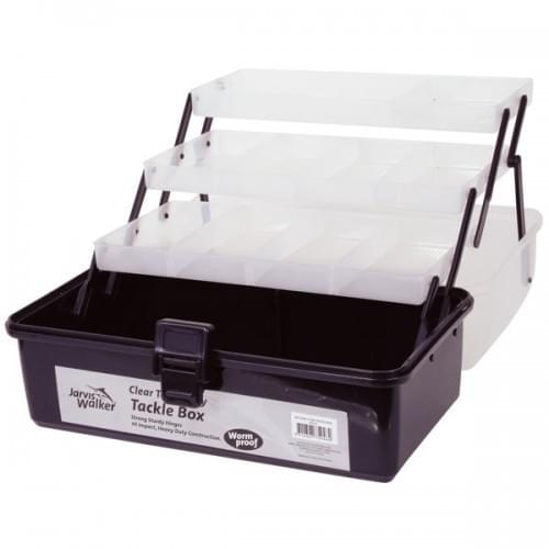 Jarvis Walker 3-Tray Clear Top Tackle Box