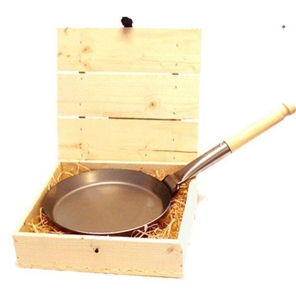 Stabilotherm STAB FRYING PAN. HOUTEN GESCHENKDOO