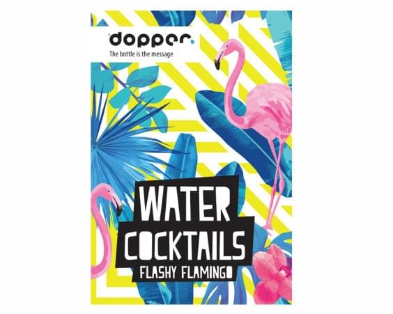 Dopper WaterCocktail Boekje Flashy Flamingo