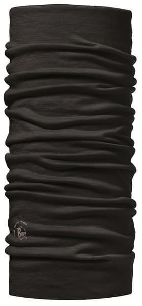 Buff Lightweight Merino Wool Solid Black