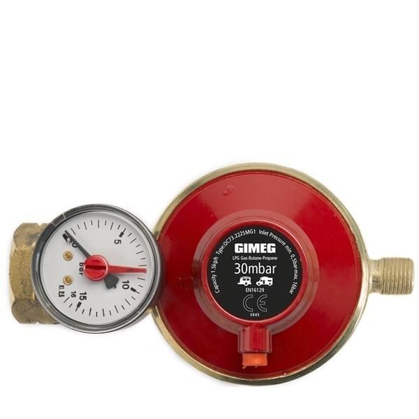 Gimeg Gasdrukregelaar met Afblaasbeveiliging en Manometer 30MB