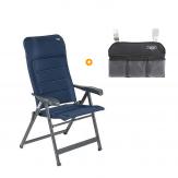 Crespo AP-237 Air-Deluxe Campingstoel + GRATIS Organizer Blauw